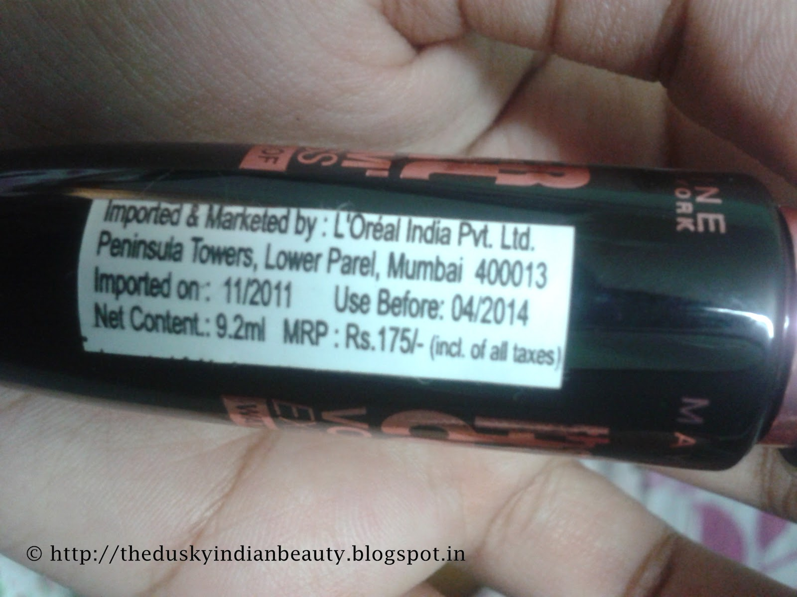 Maybelline Hyper Curl Volume Express Waterproof Mascara Review The Packaging Tube Is A Glossy Black With Product Name Written In Pink Color Cap Handle Metallic Silver
