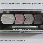 Maybelline Diamond Glow Eye Shadow Quad-Gray Pink-Review and EOTD