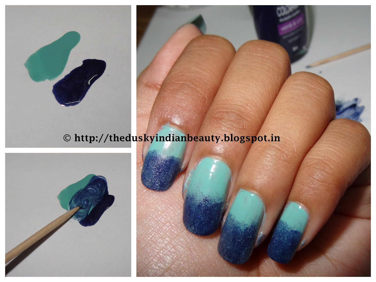 Pictorial My First Attempt At Ombre Gradient Sponging Nail Art