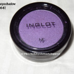 Inglot eyeshadow pearl 441: Review, EOTD