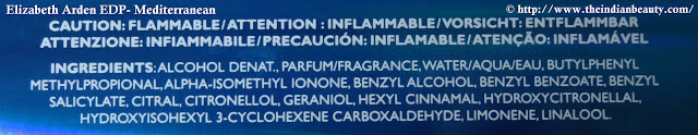 Elizabeth Arden Eau De Parfum- Mediterranean ingredients