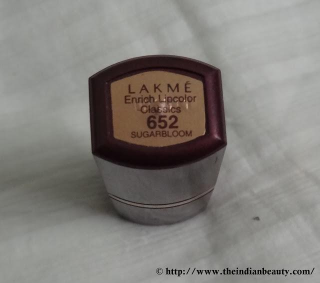 Lakme Enrich lipcolor- 652 Sugarbloom