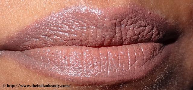 Lakme Enrich lipcolor- 652 Sugarbloom lip swatch (2)
