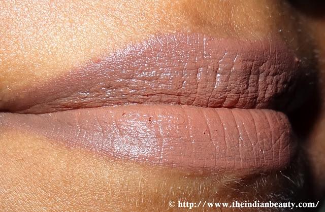 Lakme Enrich lipcolor- 652 Sugarbloom lip swatch (1)