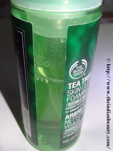 The Body Shop Tea Tree Skin Clearing Foaming Cleanser bottle