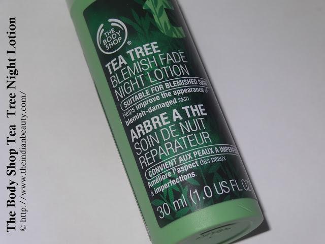 The Body Shop Tea Tree Blemish Fade Night Lotion (1)