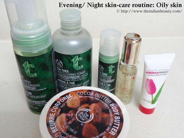 Evening/ Night skin-care routine (Oily skin)