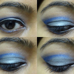 Cut-crease blue and grey eye make-up tutorial
