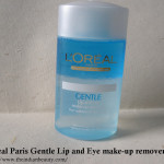 L'Oreal Paris Gentle Lip and Eye make-up remover for waterproof make-up: Review, demo