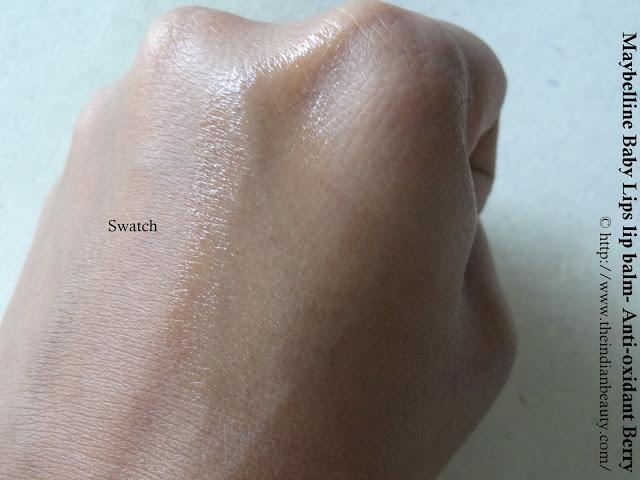 Maybelline Baby Lips lip balm- Anti-oxidant Berry swatch