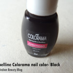 Maybelline Colorama nail color- Black: Review, NOTD