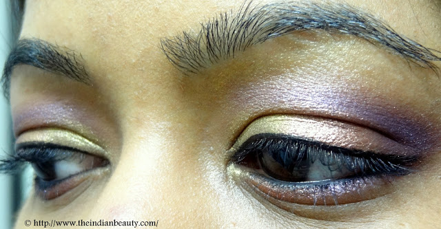 Festive purple and gold eye make-up tutorial