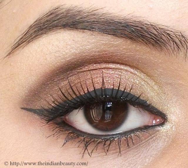 Gold & Bronze Festive Eyemakeup