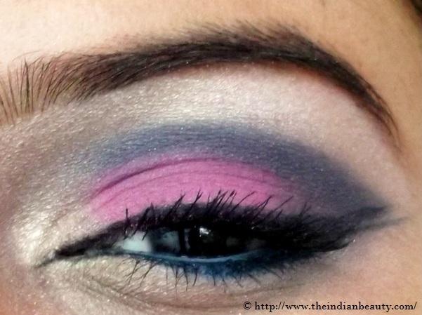 pink blue eye make up