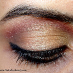 Subtle orange and red party eye make-up tutorial