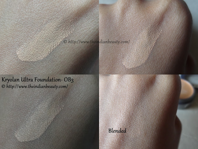 kryolan ultra foundation ob3 swatch