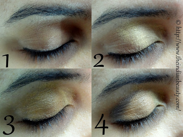 orange and red party eye make-up tutorial