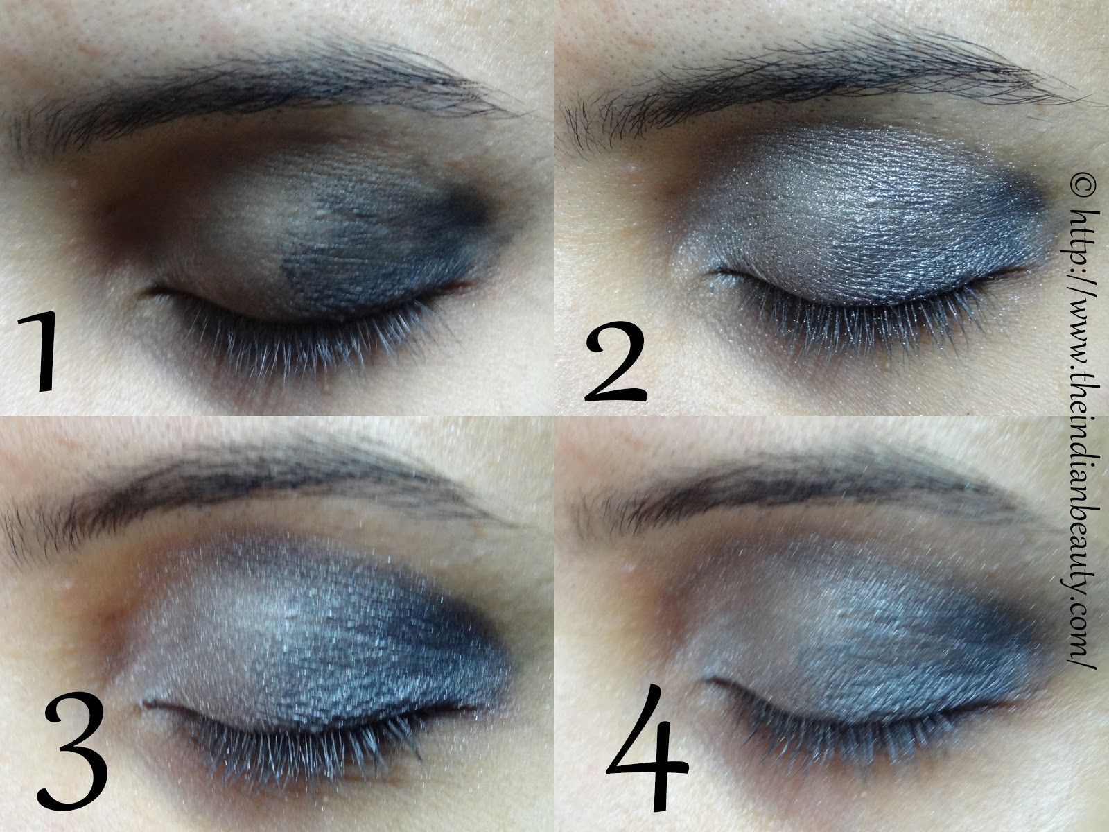 Silver Black Smokey Eyes In 8 Simple Steps Tutorial The Indian