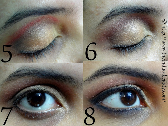 orange and red party eye make-up tutorial1