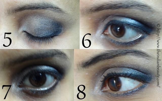 silver black smokey eye makeup tutorial1
