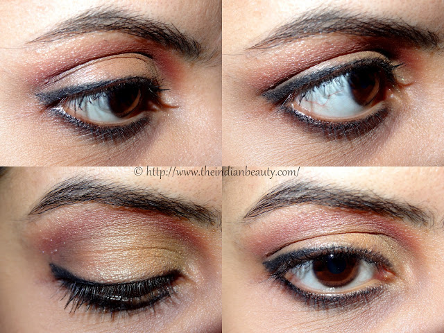 orange and red party eye make-up