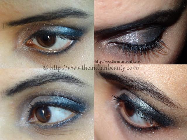 silver black smokey eye makeup