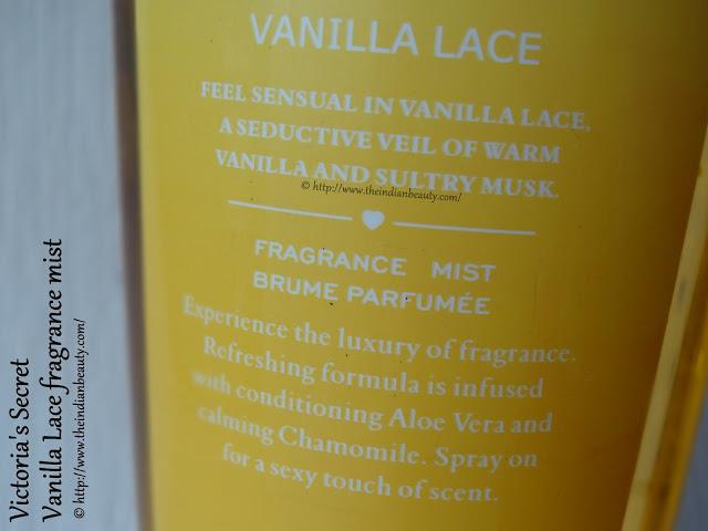 about victoria's secret vanilla lace body mist