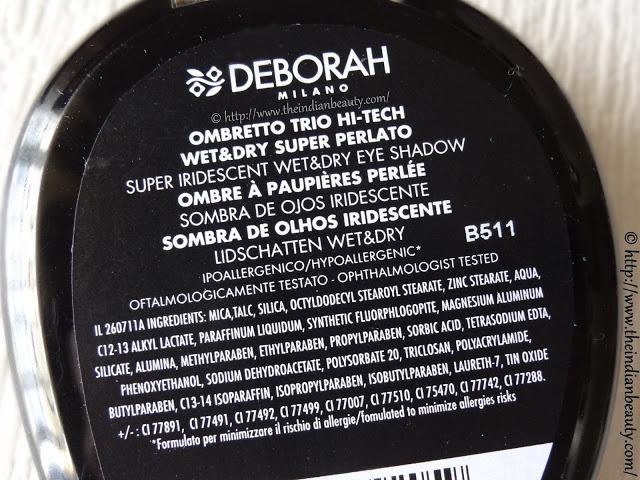 deborah milano hi tech trio eyeshadows ingredients