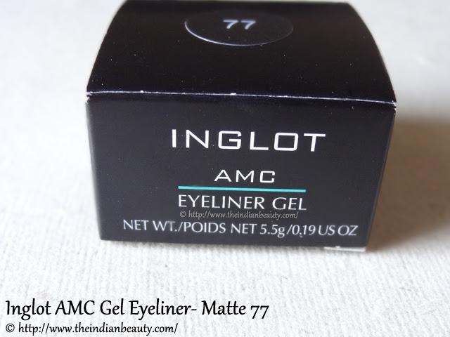 inglot amc eyeliner gel matte 77 review