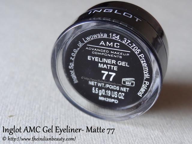 inglot amc eyeliner gel matte 77