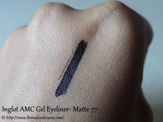 inglot amc eyeliner gel matte 77 swatch