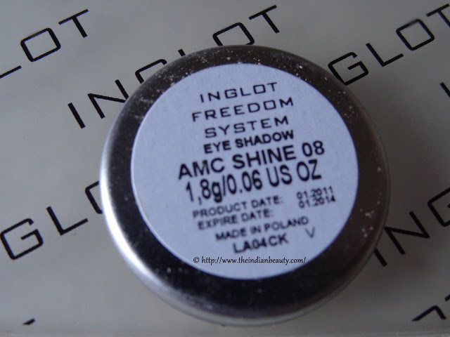 inglot freedom system eyeshadow amc shine 08 review and swatch