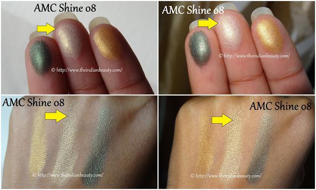 inglot freedom system eyeshadow amc shine 08 swatches