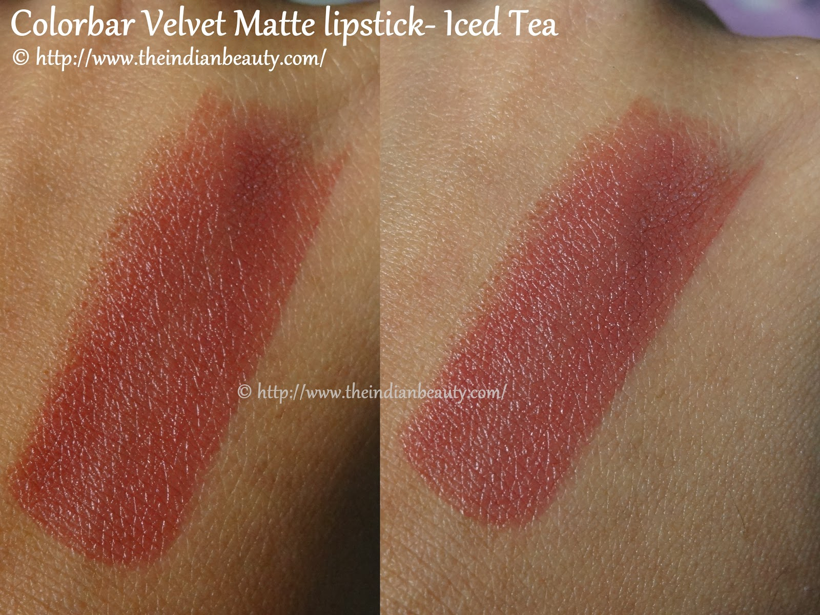 Colorbar Velvet Matte Lipcolor Iced Tea Review Swatches Lotd