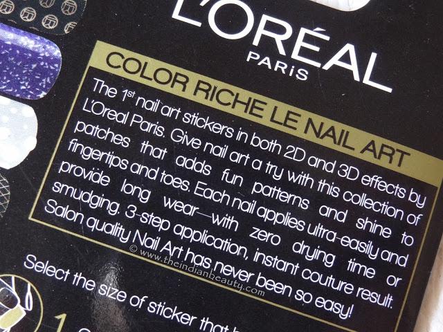 Loreal Paris Color Riche Le Nail Art Stickers Disco Diamond