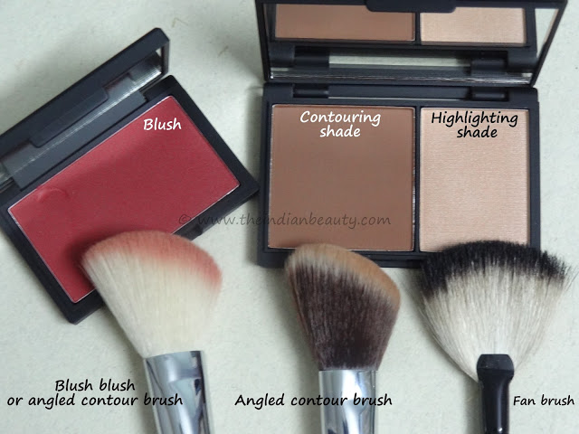 cheek contouring and blush application (2)