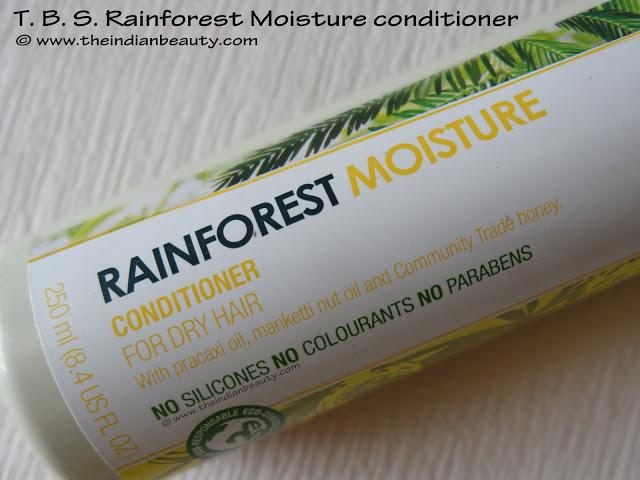 the body shop rainforest moisture conditioner paraben silicone colorant free