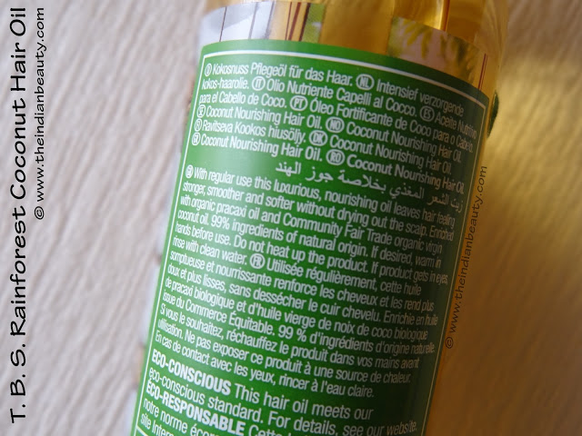 the body shop rainforest coconut hair oil review india