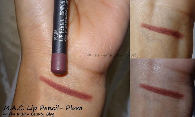 mac lip pencil plum swatches