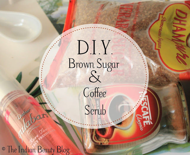 diy sugar and coffee scrub