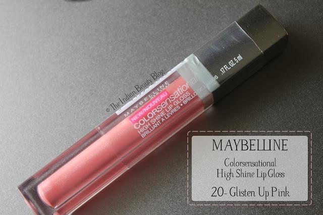 maybelline high shine lip gloss