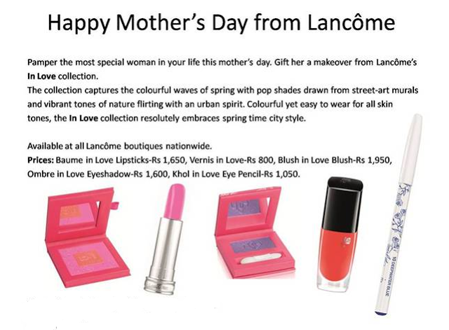 lancome in love collection india