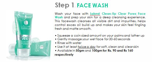 lakme clean up pores wash