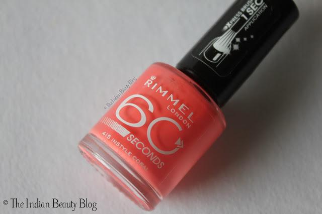 rimmel 60 seconds nail polish