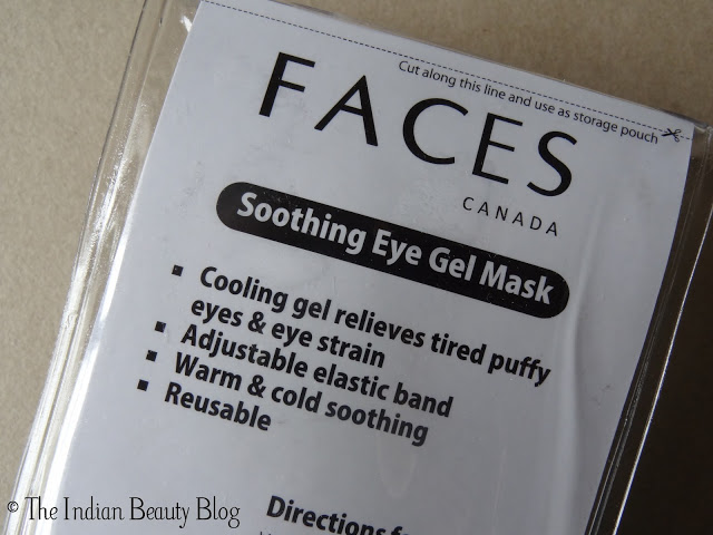 faces soothing eye gel mask review
