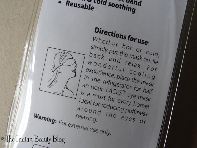 faces soothing eye gel mask reviews