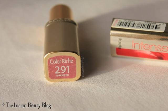 L'Oreal Paris Color Riche lipstick Fever Brown review india