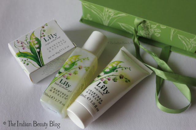 crabtree and evelyn lily mini gift set products