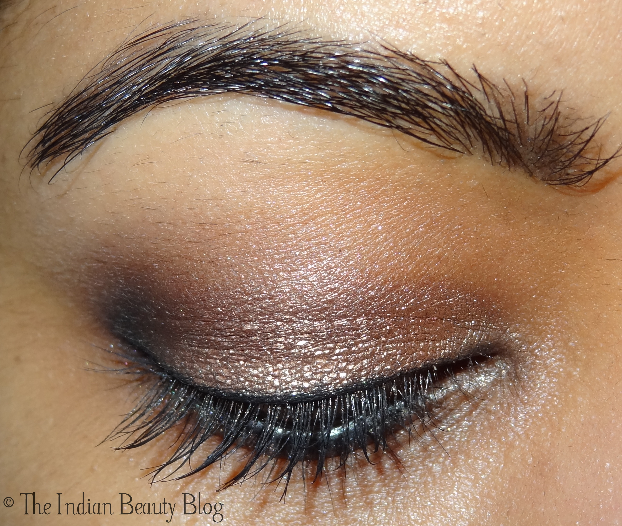 Maybelline color tattoo bad to the bronze review swatch eotd copper smokey eyes baditri Image collections