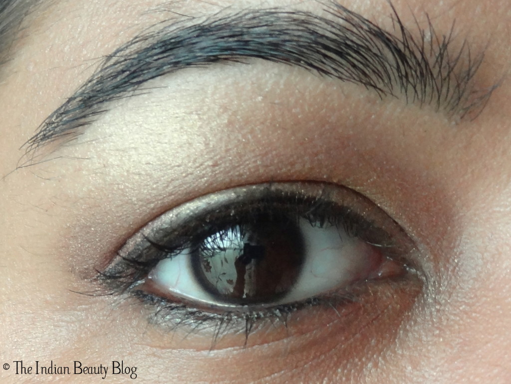 gold and taupe eye makeup (2)